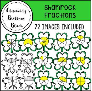 Shamrock Fractions Clipart