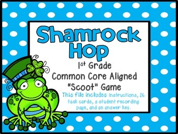 Shamrock Hop {St. Patrick's Day Math Game}