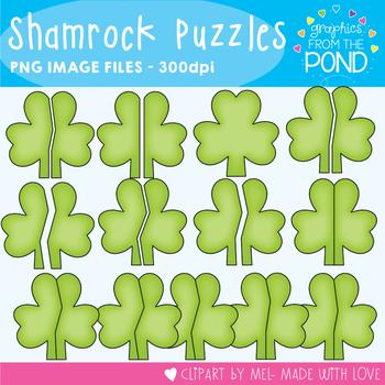 Shamrock Puzzle Clipart