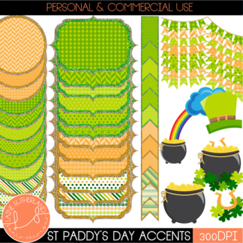 Shamrock & Roll Digital Page Accents