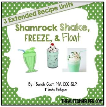 Shamrock Shakes, Freezes, & Floats {3 Adapted Recipe Units}