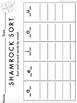 Shamrock Short Vowel Sort Literacy Center