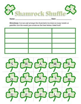 St. Patrick's Day Word Mash Up