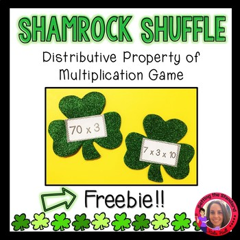 Shamrock Shuffle- Distributive Property of Multiplication Game