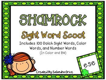 Shamrock Sight Word Scoot