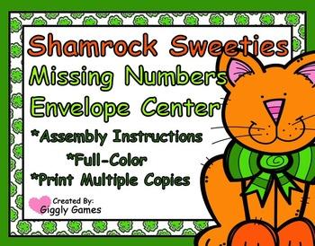 Shamrock Sweeties Missing Number Envelope Center