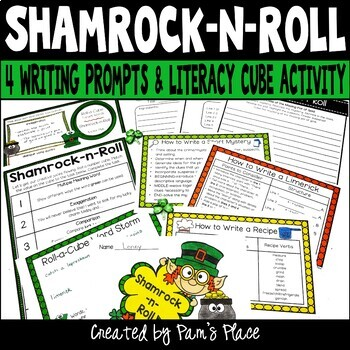 St. Patrick's Day Roll-a-Cube Activity for Literacy and La