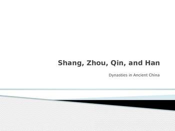 Shang, Zhou, Qin, and Han