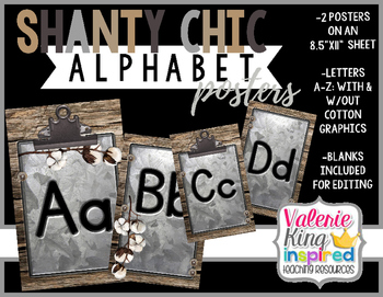 Shanty Chic Collection: Alphabet Posters