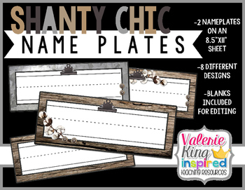Shanty Chic Collection: NamePlates
