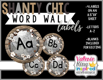 Shanty Chic Collection: Word Wall Labels