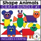 Shape Animal Cut and Paste Set