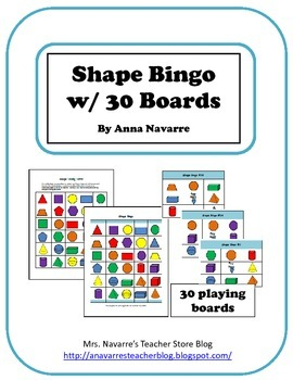 Shape Bingo w/30 Boards