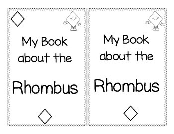 Shape Book about Rhombus'