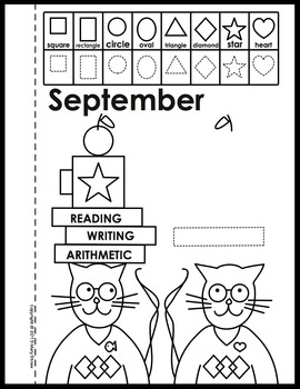 Calendar-Shape Book Activity Coloring Pages