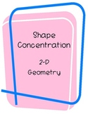 Shape Concentration Game- review of 2D shapes (Geometry)