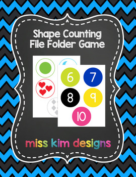 Shape Counting File Folder Game for students with Autism &
