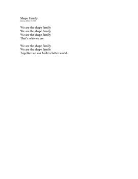 Shape Family Lyrics (All songs)