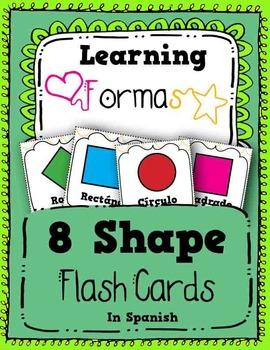 Shape Flash Cards in Spanish