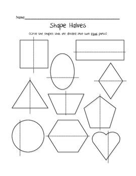 Shape Halves Freebie
