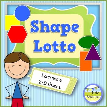 Shape Lotto - 2-D Shapes