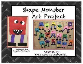 Shape Monster Art Project