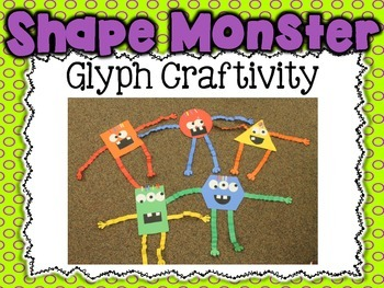 Shape Monster Glyph Craftivity {Common Core Aligned Spooky