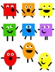 Shape Monsters Clip Art 36 PNG Images:  Enough For Your Wh