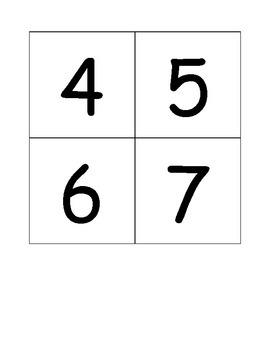 Shape Numbers 1-10 Matching