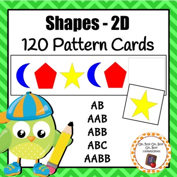 Shape Pattern Cards - 120 cards