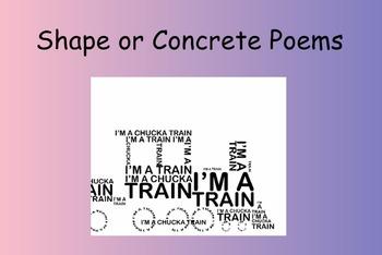 Shape Poems/Concrete Poems