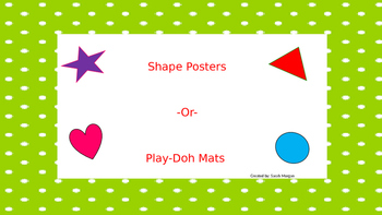 Shape Poster/ Play-doh mat