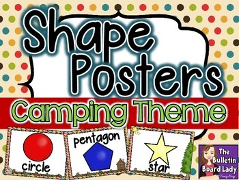 Shape Posters Camping Theme