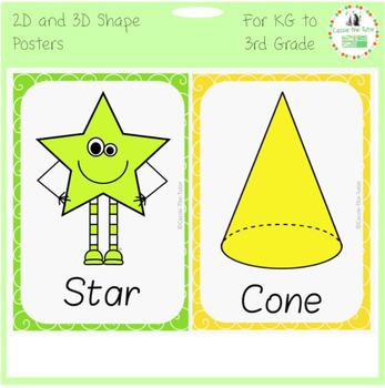 Shape Posters: 2D & 3D
