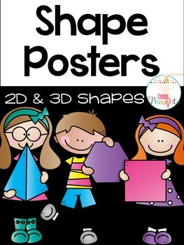 Shape Posters-2D & 3D shapes-Black series