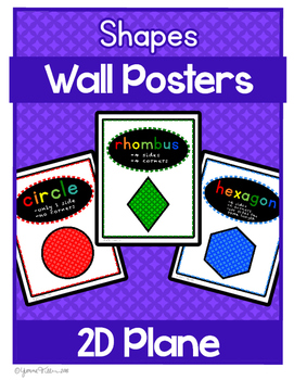 Shape Posters 2D -  Colorful