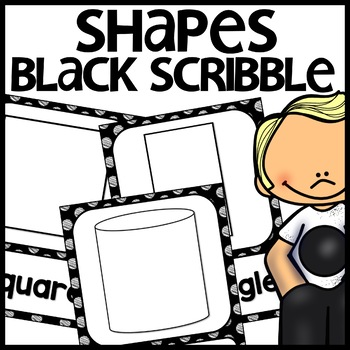 Shape Posters 2d and 3d MIX AND MATCH (BLACK Polka Dot Scribble)