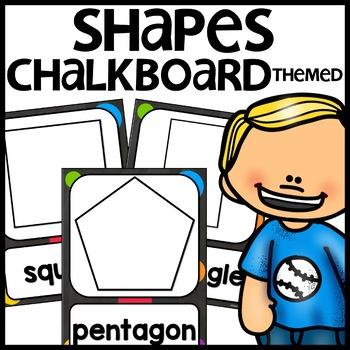 Shape Posters (Chalkboard themed)
