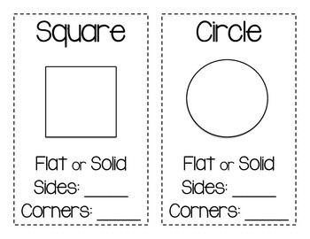 Shape Posters: Flat, Solid, Sides, and Corners