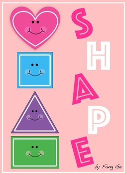 Shape Posters with Polka Dot Frames (Simplified Chinese)