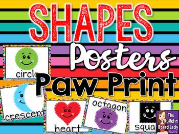 Shape Posters Paw Prints Theme
