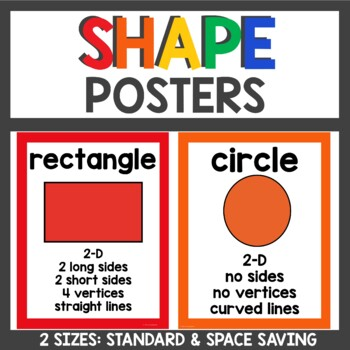 Shape Posters Primary colors and white