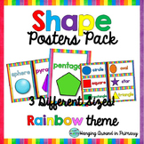 2D and 3D Shape Posters - Rainbow