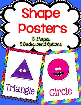 Shape Posters (Silly Faces)