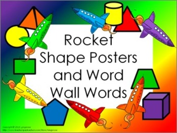 Shape Posters and Word Wall Words - Rockets