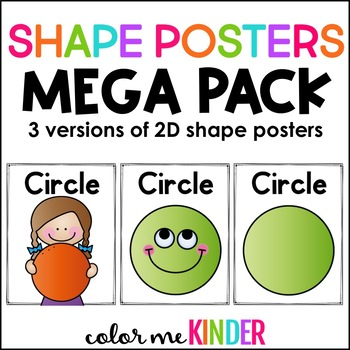Chevron Chic SHAPES Poster Pack