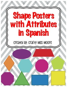 Shape Posters with Attributes in Spanish