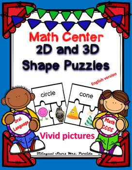 Shape Puzzles  2D & 3D Center  English version Bilingual S