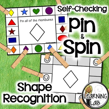 Shape Recognition - A Pin & Spin Activity