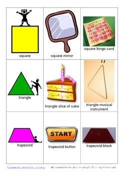 Shape Recognition Mini Flashcards